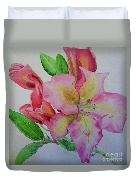 Rhodie With Dew I Duvet Cover