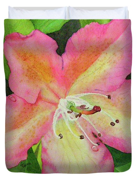 Rhodie With Dew II Duvet Cover