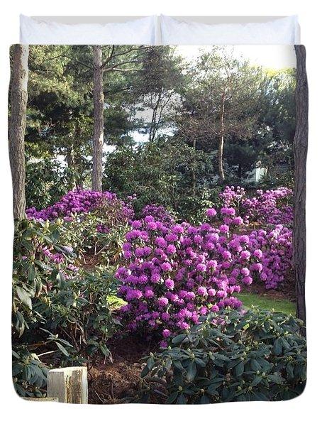 Rhododendron Garden Duvet Cover