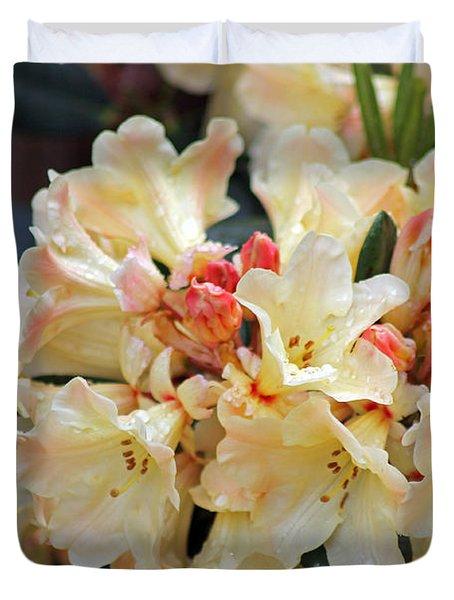 Rhododendron Nancy Evans Duvet Cover