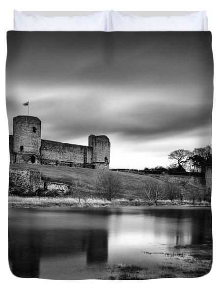 Rhuddlan Castle Duvet Cover by Dave Bowman