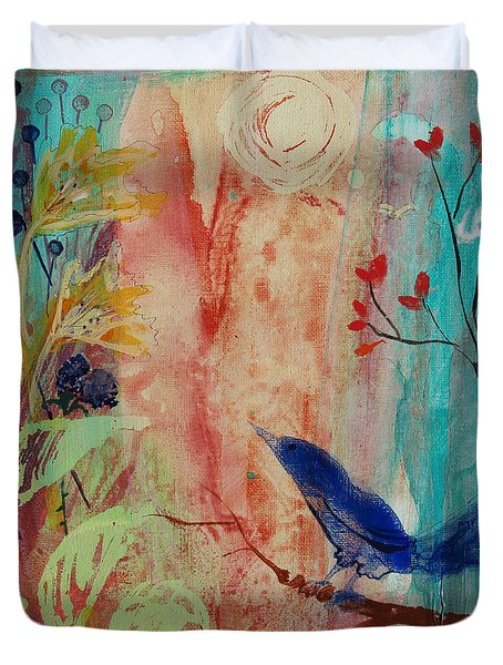 Duvet Cover featuring the painting Rhythm And Blues by Robin Maria Pedrero