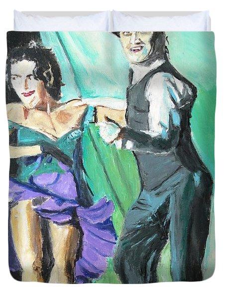 Rhythm Of The Night Duvet Cover by Judy Kay