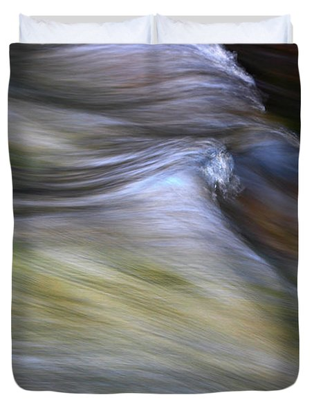 Rhythm Of The River Duvet Cover by Michael Eingle