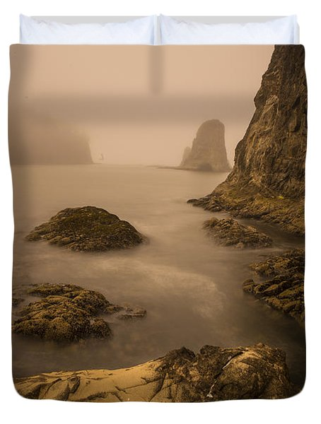 Rialto Beach Rocks Duvet Cover