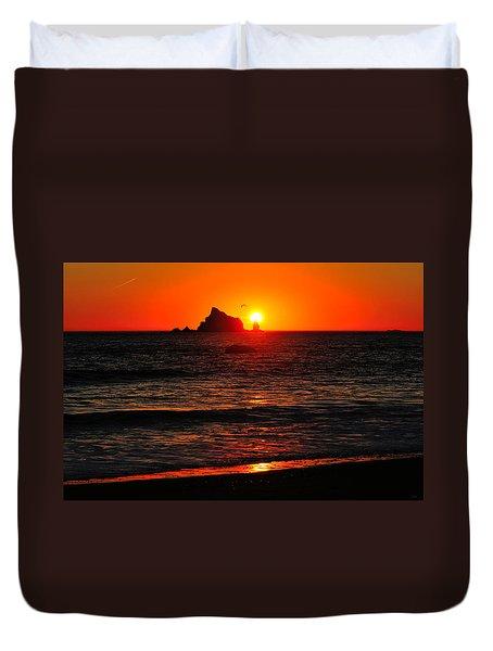 Rialto Beach Sunset Duvet Cover
