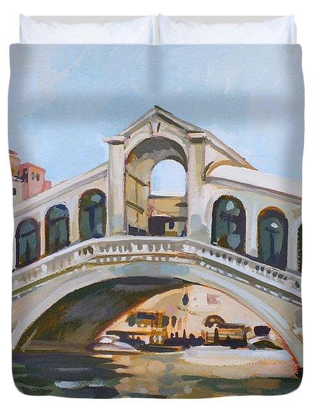 Rialto Bridge Duvet Cover by Filip Mihail