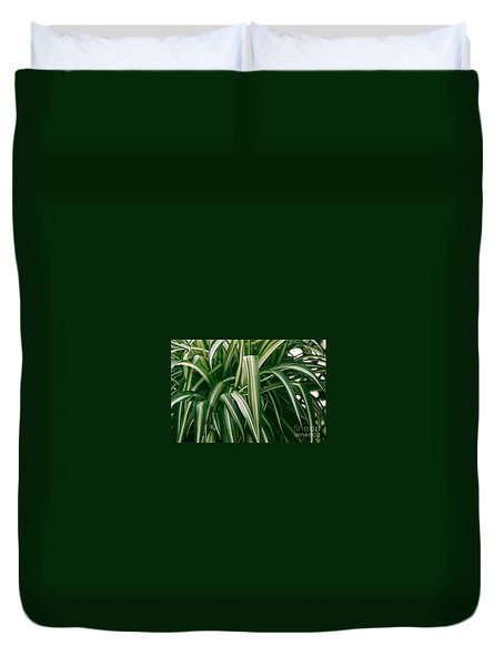 Ribbon Grass Duvet Cover