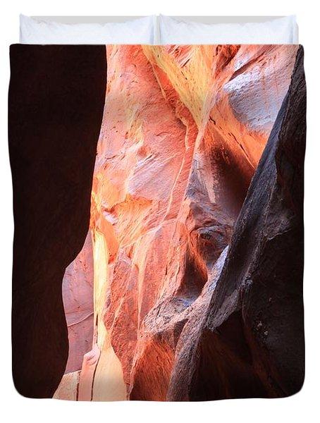 Ribbon Of Fire Duvet Cover