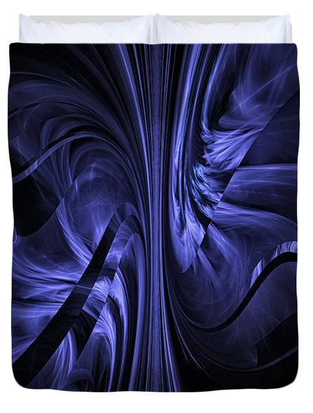 Ribbons Of Time Duvet Cover by GJ Blackman