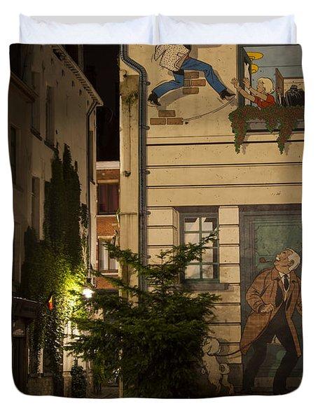 Ric Hochet Duvet Cover by Juli Scalzi