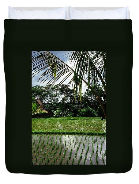 Rice Fields Bali Duvet Cover by Juergen Weiss