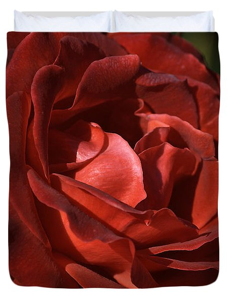 Duvet Cover featuring the photograph Rich Is Rose by Joy Watson