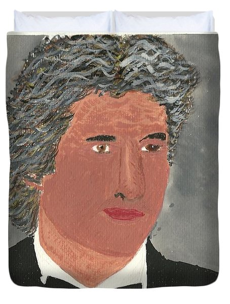 Duvet Cover featuring the painting Richard Gere by Tracey Williams