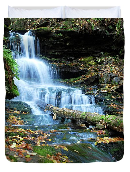 Ricketts Glen Hidden Waterfall Duvet Cover