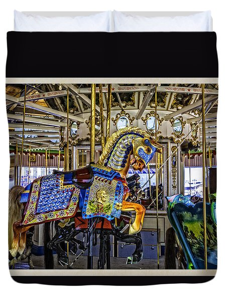 Ride A Painted Pony - Coney Island 2013 - Brooklyn - New York Duvet Cover