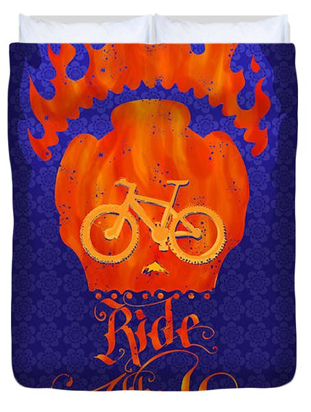 Ride Like Hell Duvet Cover