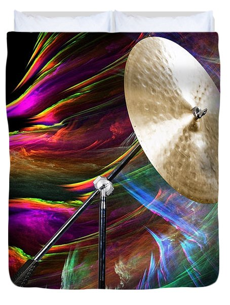 Ride Or Suspended Cymbal In Color 3241.02 Duvet Cover