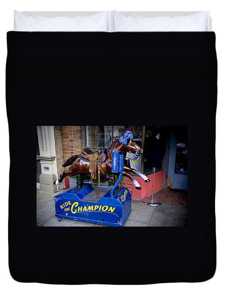 Ride The Champion Duvet Cover by Garry Gay
