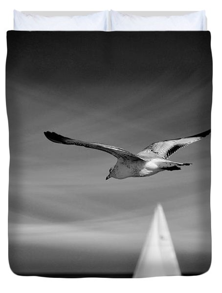 Ride The Wind Duvet Cover by Laura Fasulo