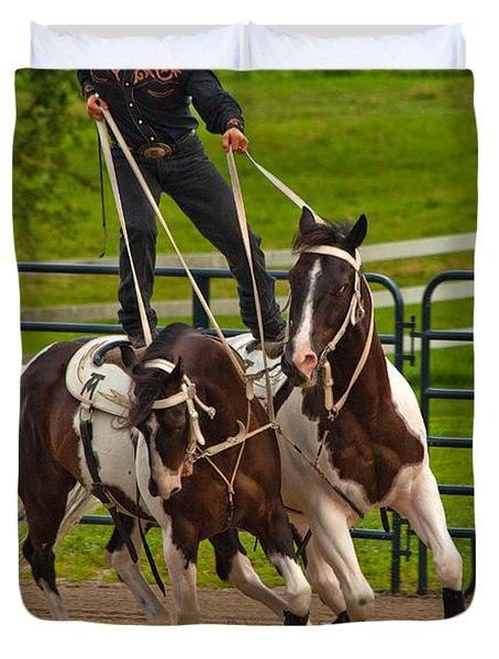 Ride Them Cowboy Duvet Cover by Karol Livote