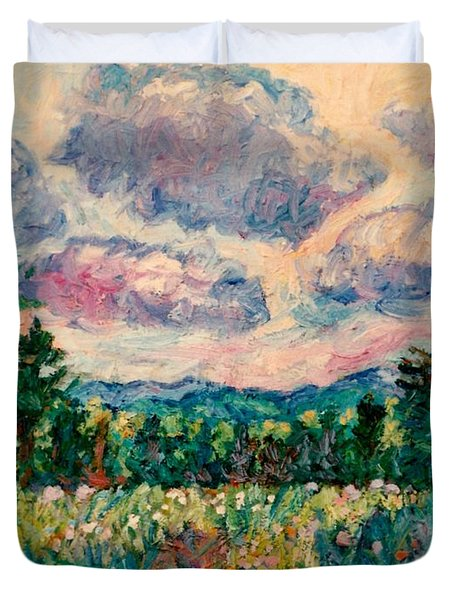 Ridge Light Duvet Cover by Kendall Kessler