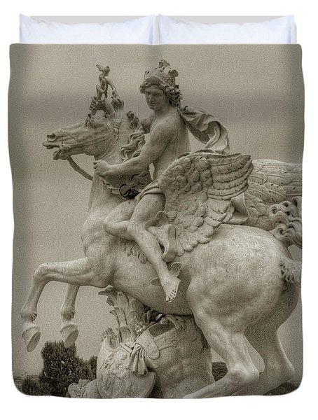 Riding Pegasis Duvet Cover