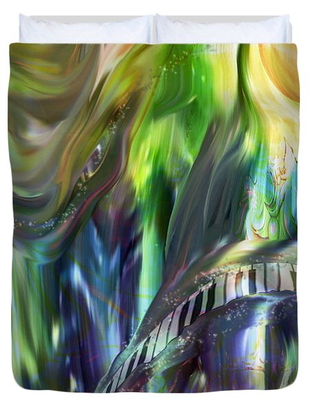 Riding The Wave Duvet Cover by Linda Sannuti