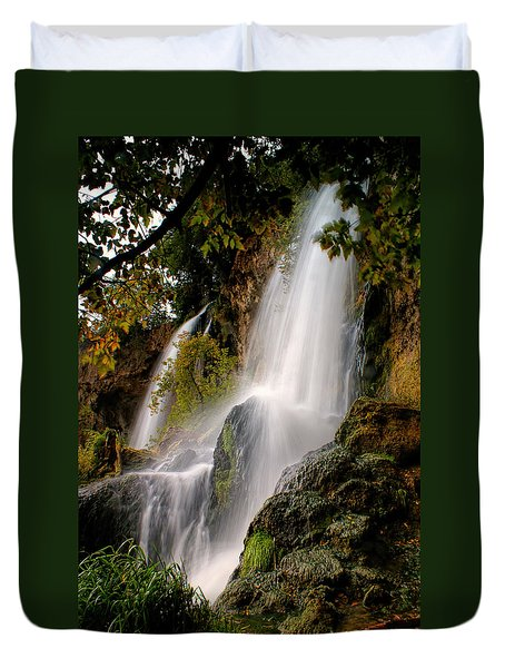 Rifle Falls Duvet Cover by Priscilla Burgers