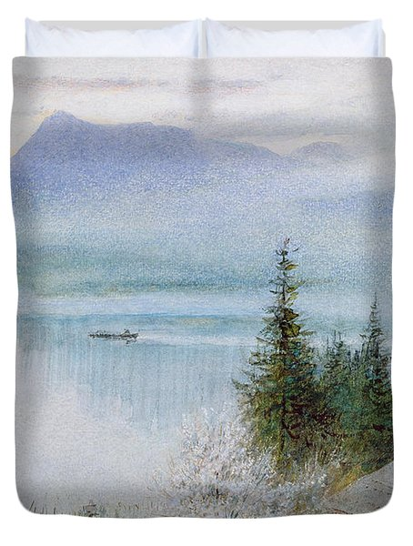 Righi Duvet Cover by Albert Goodwin