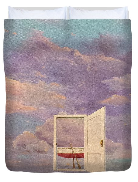 Duvet Cover featuring the painting Right Where It's Always Been by James  Andrews