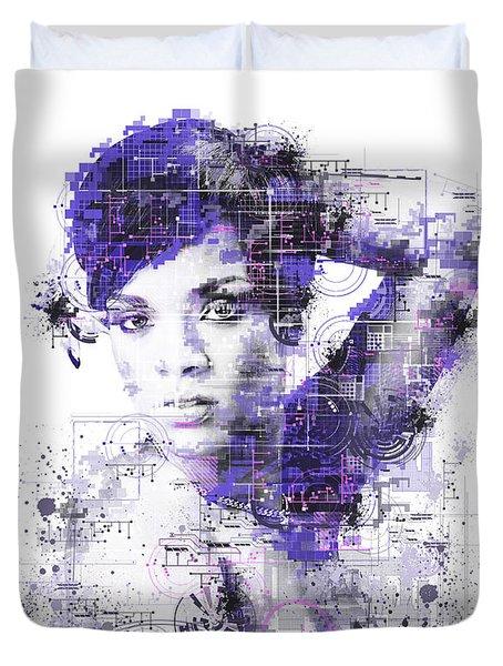 Rihanna Duvet Cover by Bekim Art