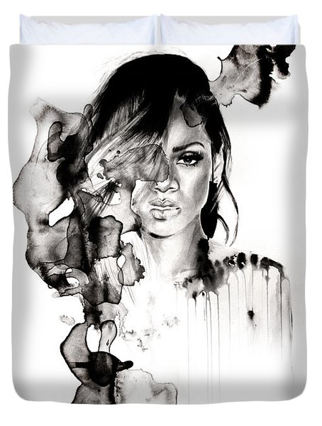 Rihanna Stay Duvet Cover by Molly Picklesimer