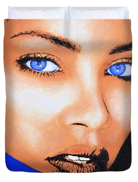 Rihanna Duvet Cover by Victor Minca