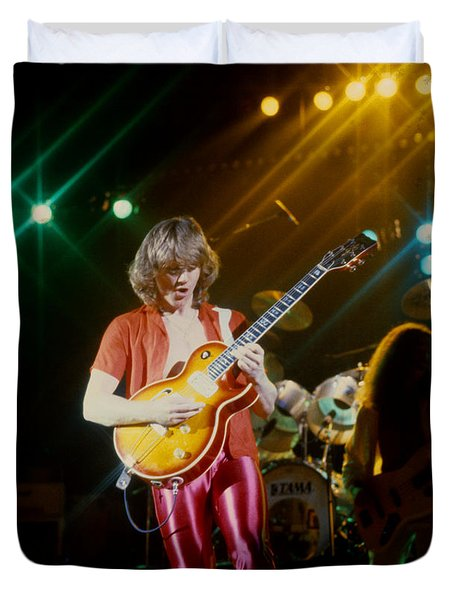 Rik Emmett Of Triumph At The Warfield Theater In San Francisco Duvet Cover
