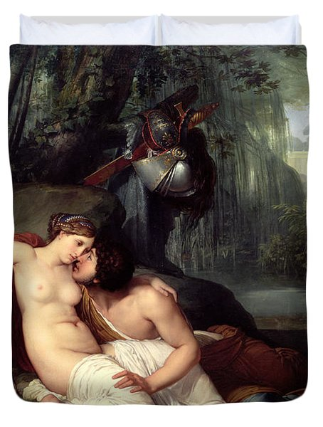 Rinaldo And Amida Duvet Cover by Francesco Hayez