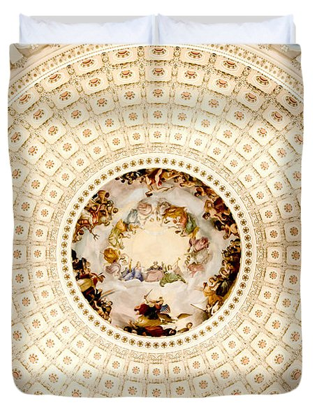Ring Around The Capitol Duvet Cover