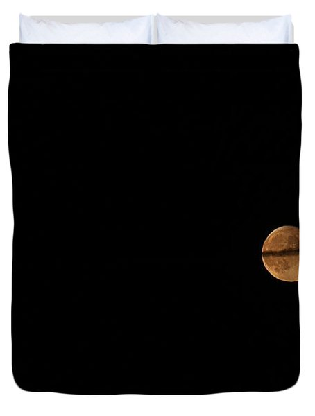 Duvet Cover featuring the photograph Ring Around The Moon by Ann E Robson