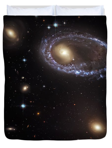 Ring Galaxy Duvet Cover by Jennifer Rondinelli Reilly - Fine Art Photography