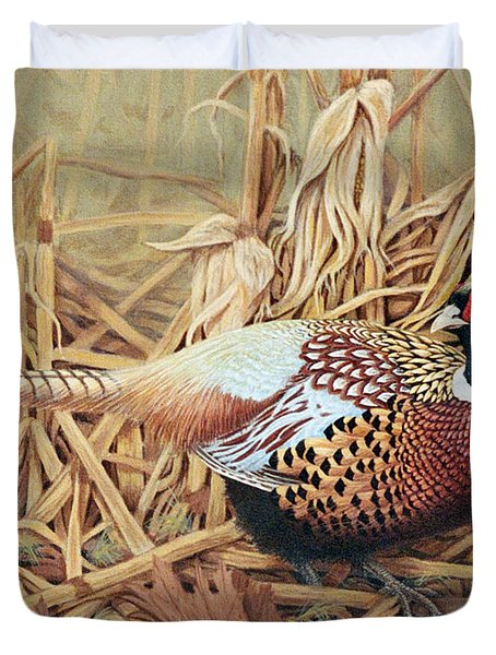 Ring-necked Pheasant Duvet Cover