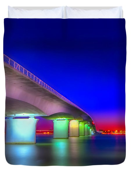 Ringling Bridge Duvet Cover