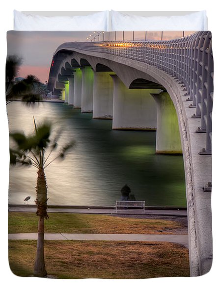 Ringling Causeway Bridge Overlook Duvet Cover