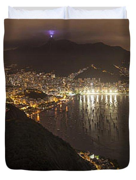 Rio De Janeiro Panorama Cityscape Duvet Cover