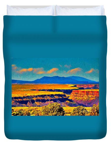 Rio Grande Gorge Lv Duvet Cover