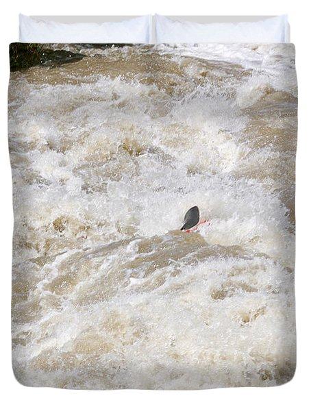 Rio Grande Kayaking Duvet Cover by Steven Ralser