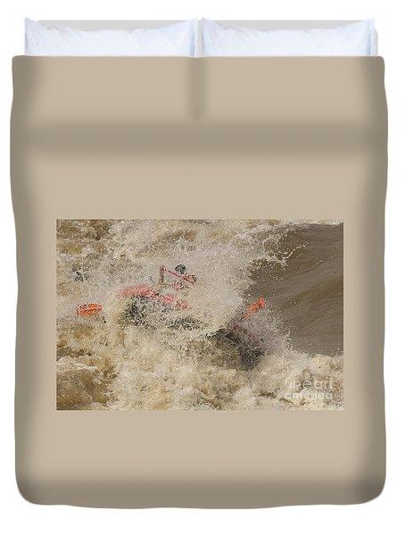 Rio Grande Rafting Duvet Cover by Steven Ralser