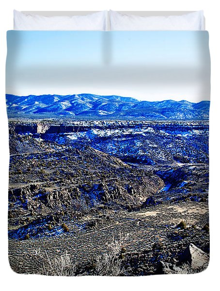 Rio Grande River Canyon-arizona Duvet Cover