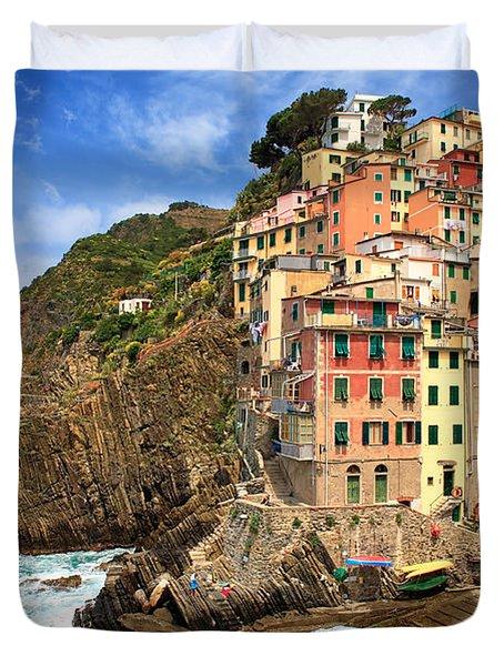 Rio Maggiore Coastline Duvet Cover