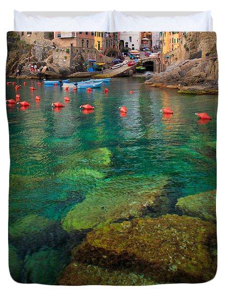 Riomaggiore Bay Duvet Cover