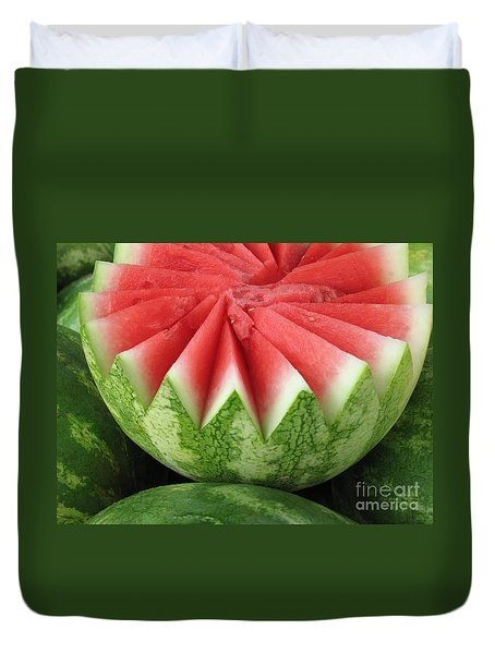 Ripe Watermelon Duvet Cover